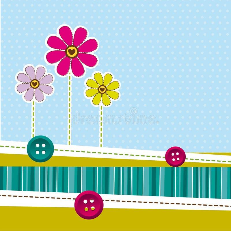 Cute flowers royalty free illustration