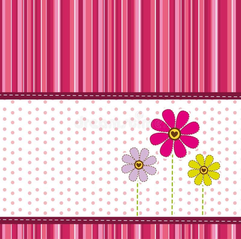 Cute flowers stock illustration
