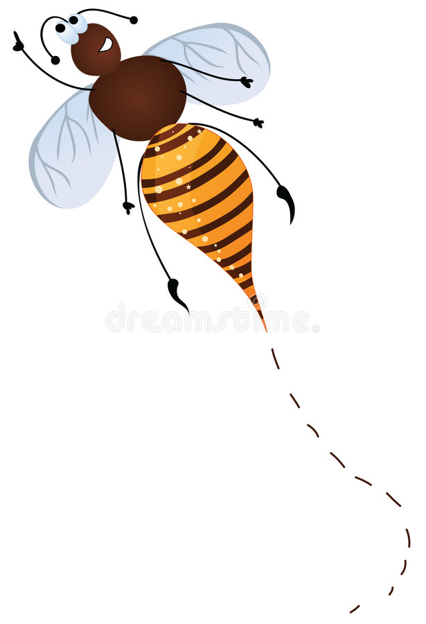 Cute flying bee