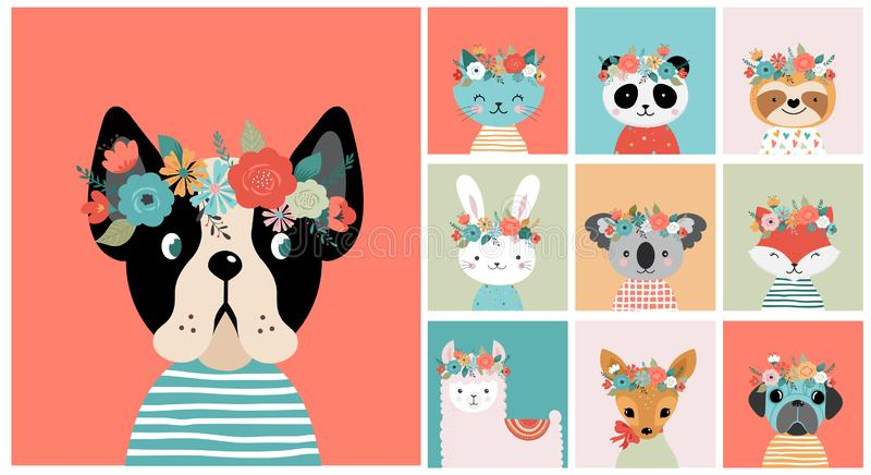Dog Flower Crown Stock Illustrations 222 Dog Flower Crown Stock Illustrations Vectors Clipart Dreamstime Flower crowns are headbands or other hair accessories created by stringing a number of flowers together. dog flower crown stock illustrations