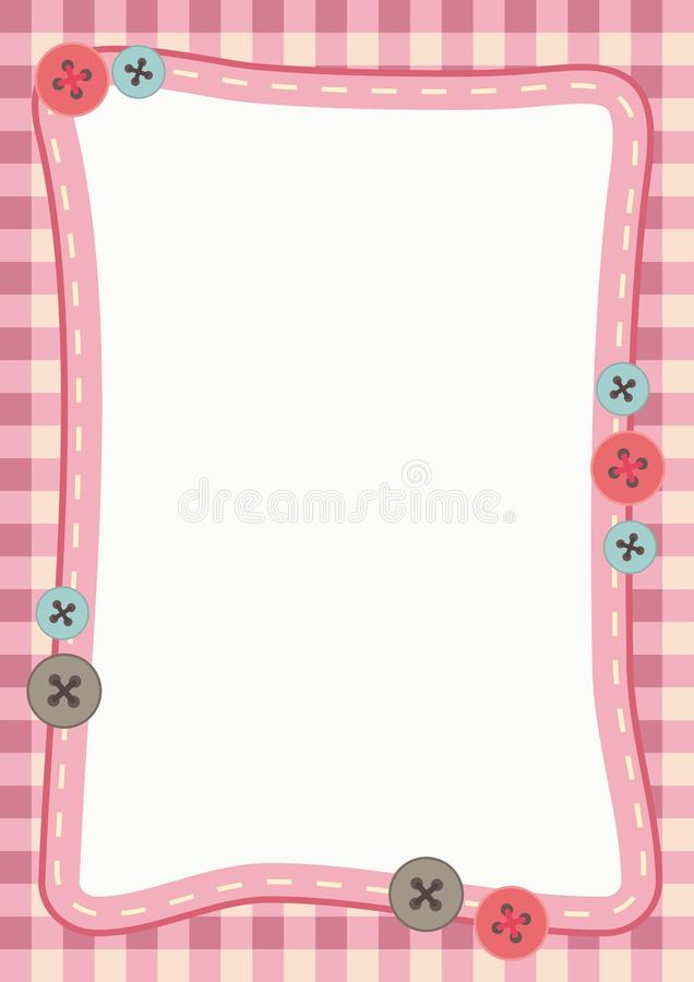 Cute Frame Background royalty free illustration