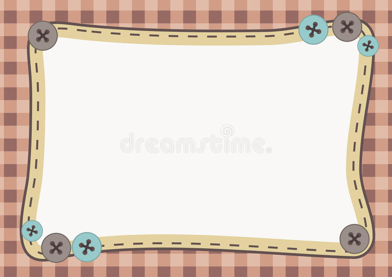 Cute Frame Background vector illustration