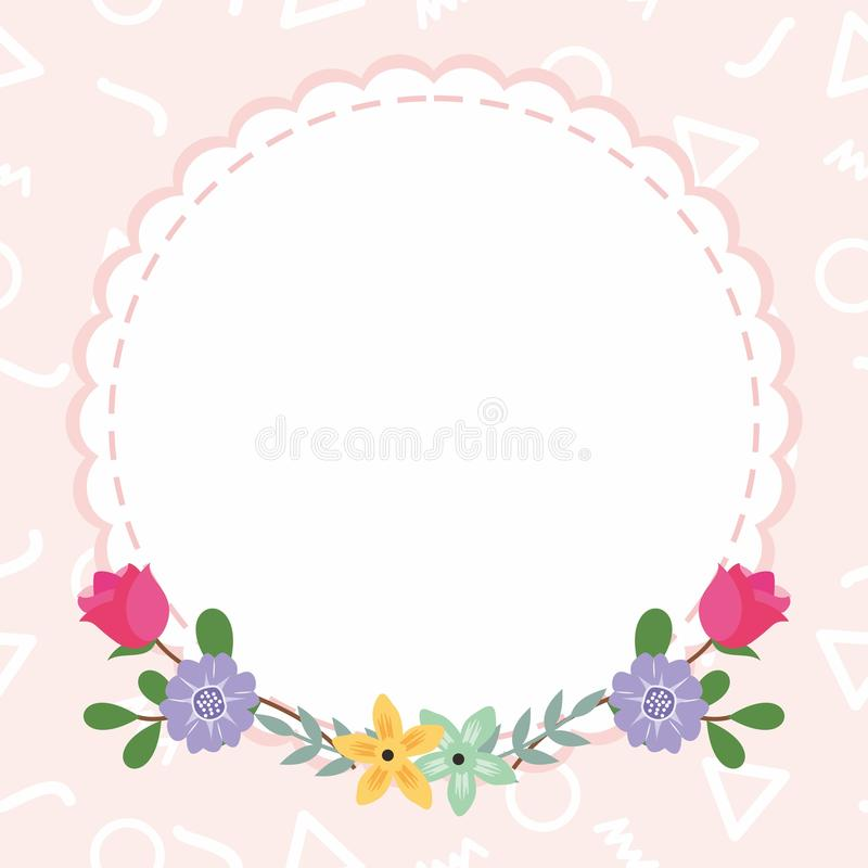 Cute Frame / Border with Ornament stock images