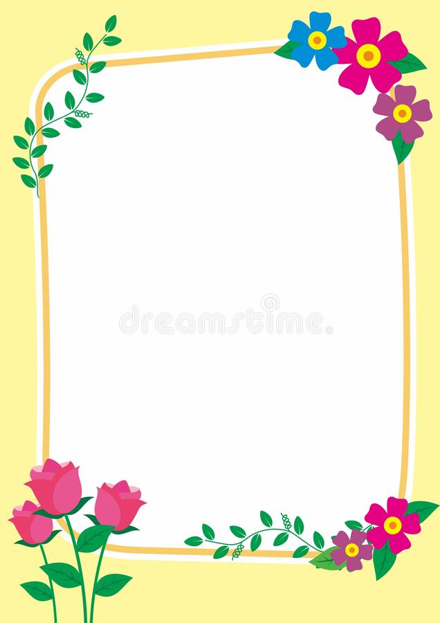 Cute Frame / Border with Ornament royalty free stock photos