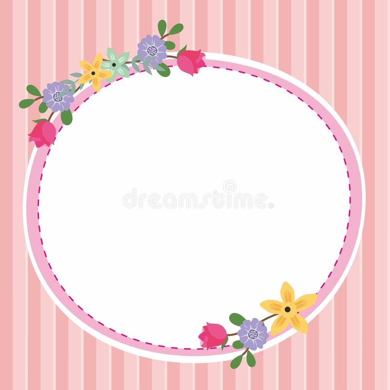 Cute Frame / Border with Ornament stock photography