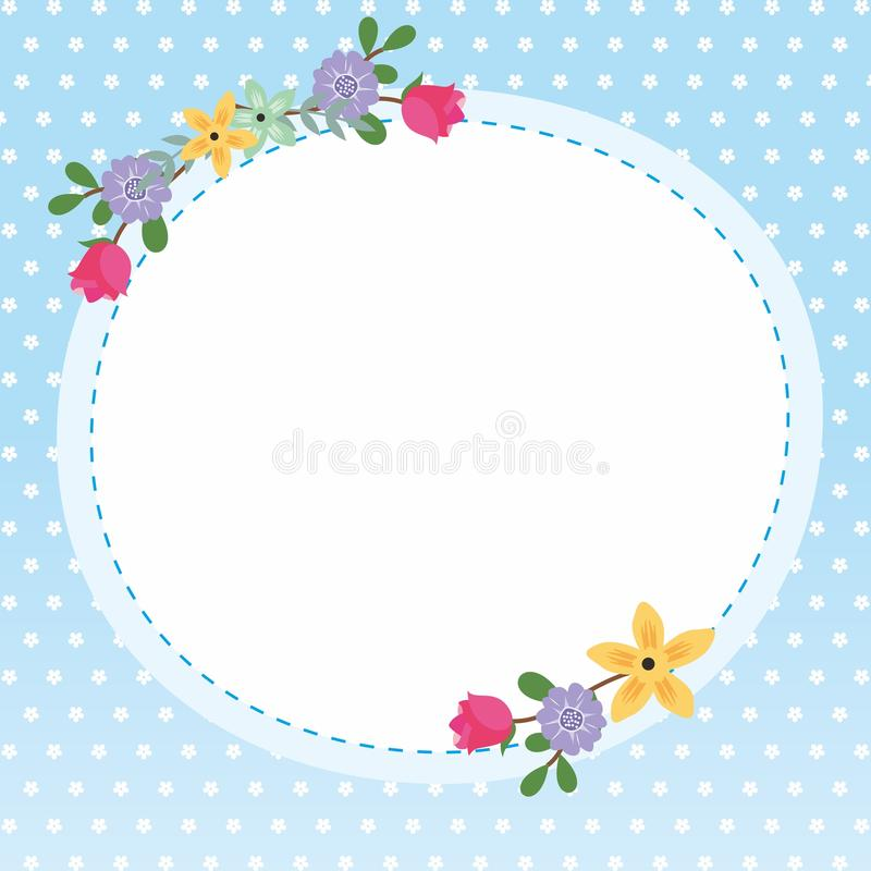Cute Frame / Border with Ornament stock photo
