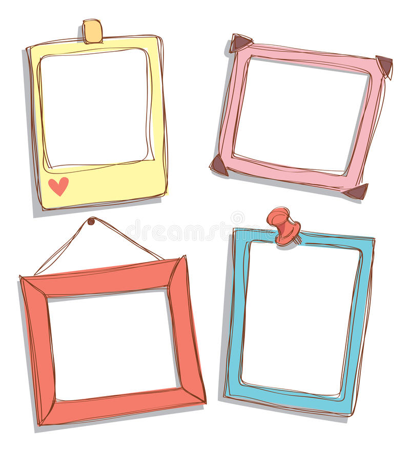 Cute frame doodle. Isolated on white background royalty free illustration