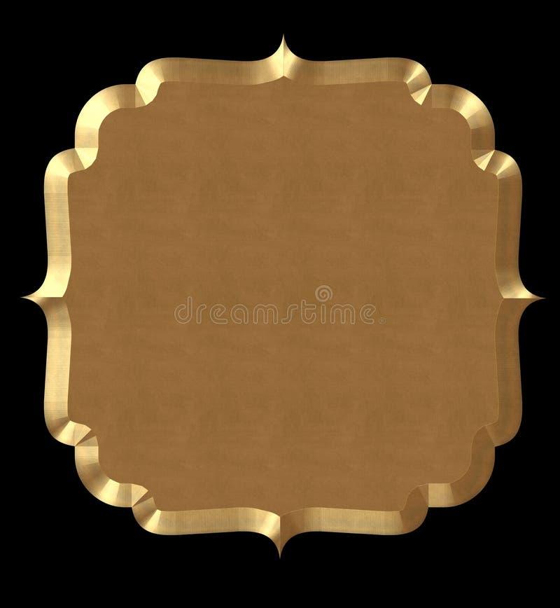 Download Cute Frame Wavy Gold stock illustration. Image of bracket - 31397611