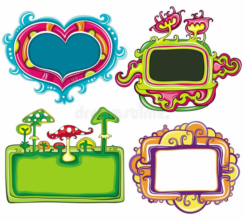 Cute frames. Vector set of cute frames, with space for your text