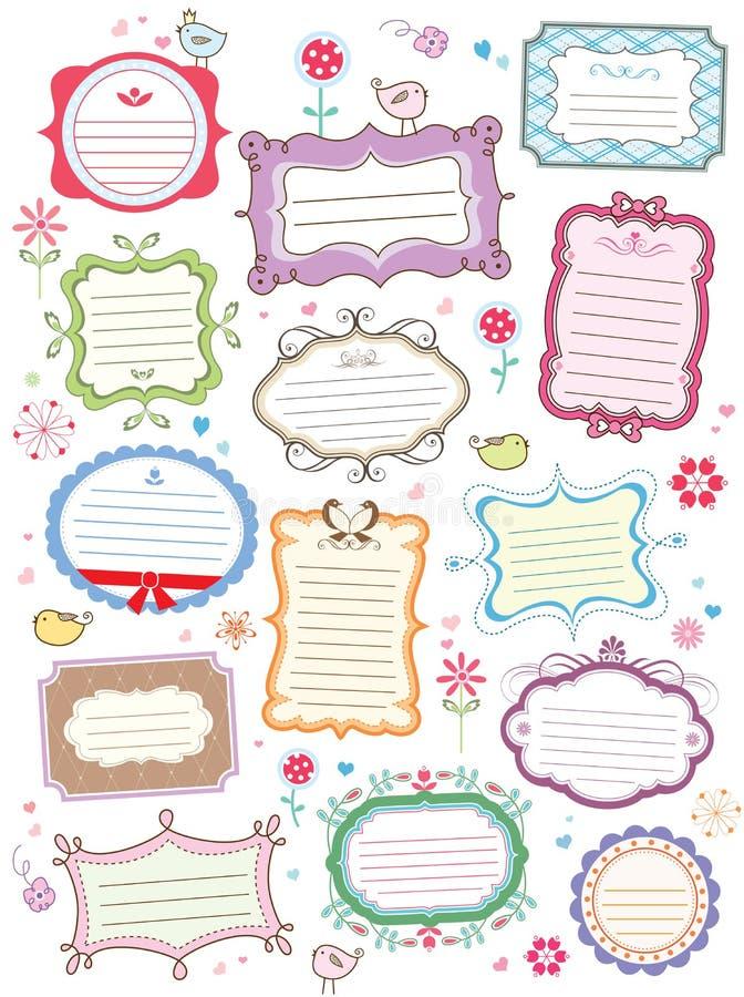 Cute frames stock illustration