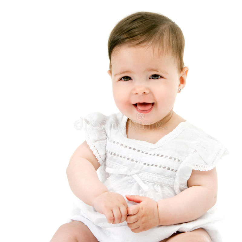 Cute friendly baby girl. royalty free stock image