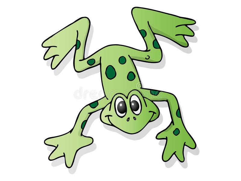 Cute frog stock illustration