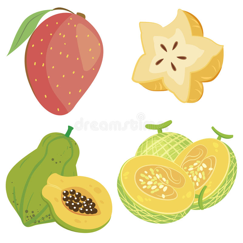 Download Cute fruit collection04 stock vector. Image of yellow - 27655501
