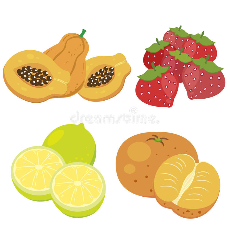 Download Cute fruit collection07 stock vector. Image of grape - 27655503