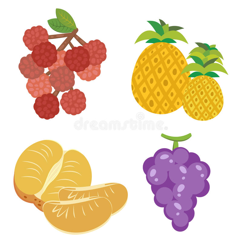 Download Cute fruit collection09 stock vector. Image of pineapple - 27655506