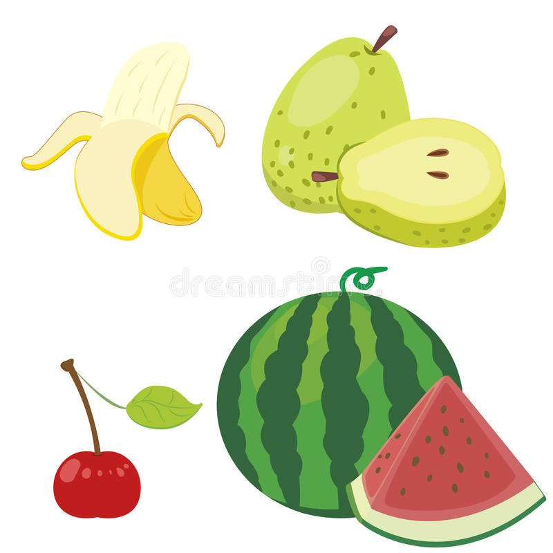 Download Cute fruit collection10 stock vector. Image of vector - 27655510