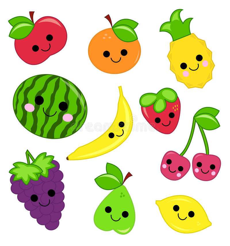 Download Cute fruit stock vector. Image of clipart, orange, pear - 31683907
