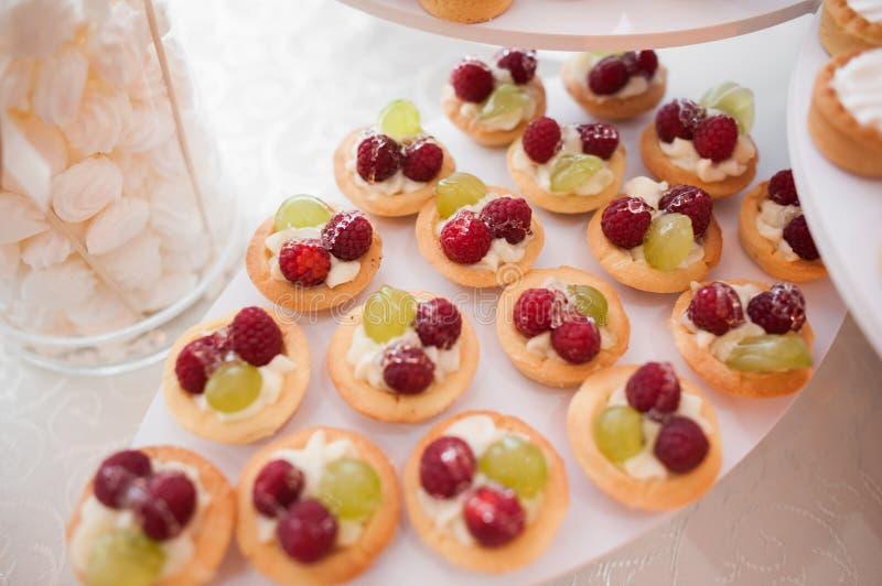 Cute fruit tarts stock photo