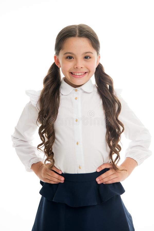 Cute and fun hairstyles to make you shine on your first week back in school. Gorgeous tails perfect for every day of stock photo