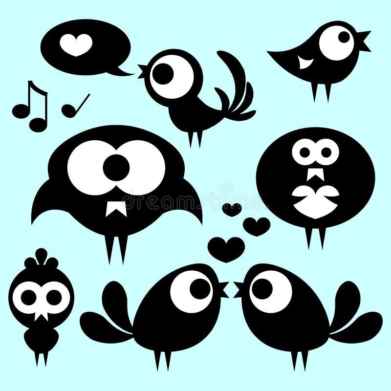 Cute Funny Birds Stock Image