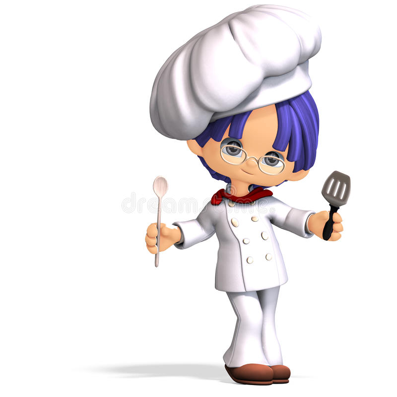 Download Cute And Funny Cartoon Cook Stock Illustration - Image: 18397063
