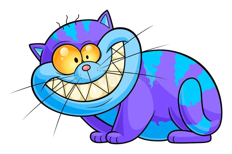 Cheshire cat simple. Cute and funny Cheshire cat. Vector illustration vector illustration
