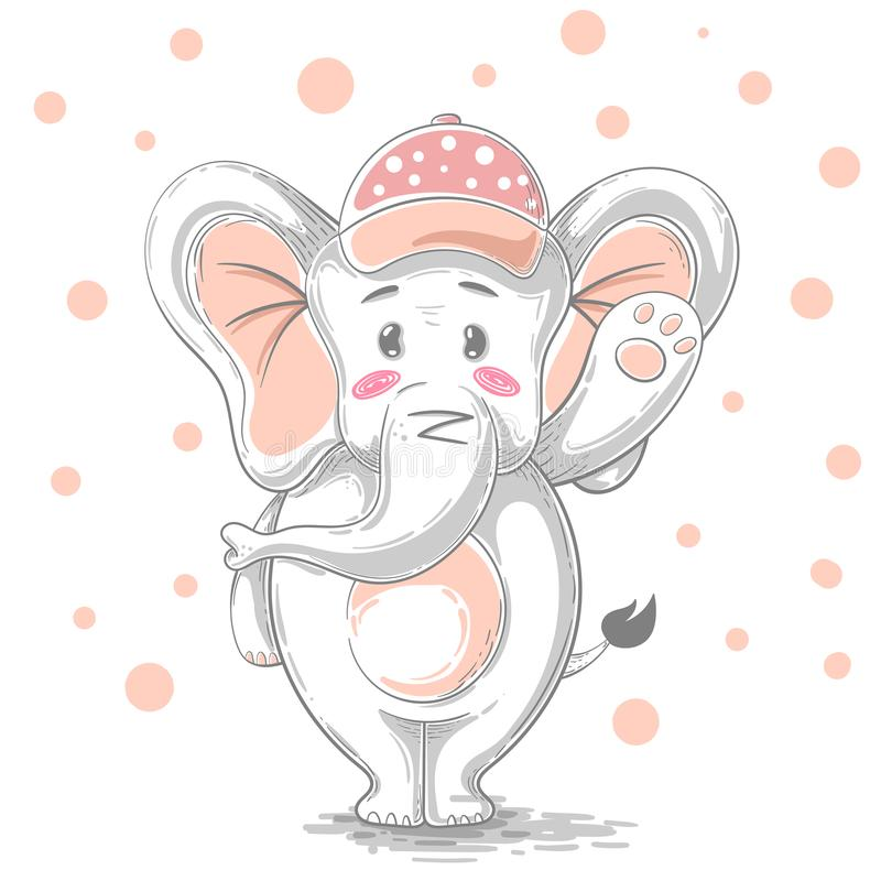 Cute, funny illustration - cartoon characters. vector illustration