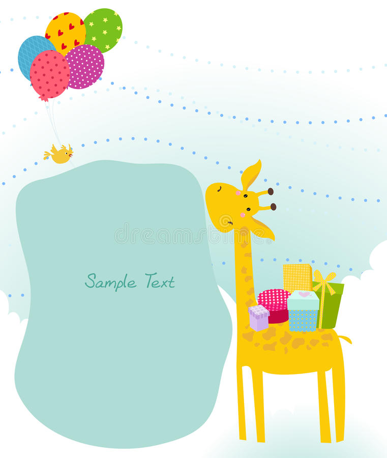 Download Cute giraffe stock vector. Image of funny, happiness - 18538291