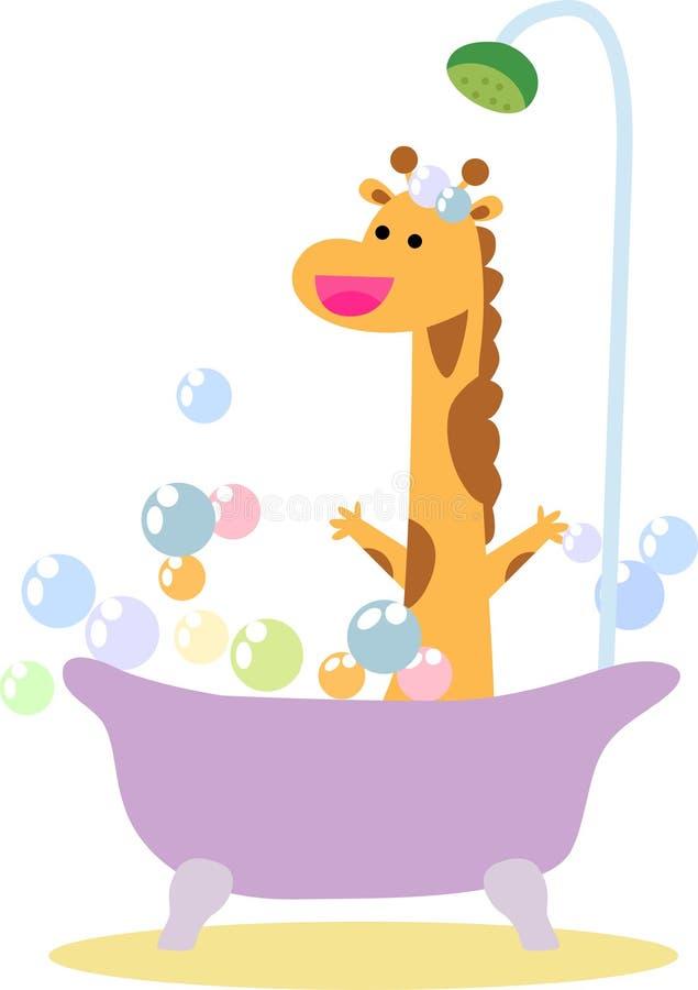 Download A cute giraffe in Bath stock vector. Illustration of giraffe - 35297544