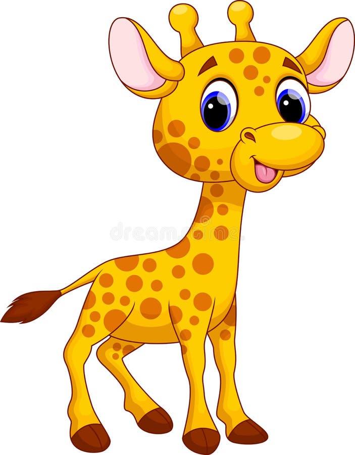 Cute giraffe cartoon stock illustration. Illustration of ...
