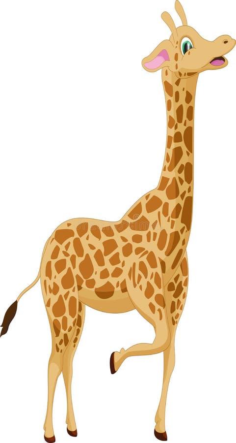 Cute giraffe cartoon vector illustration