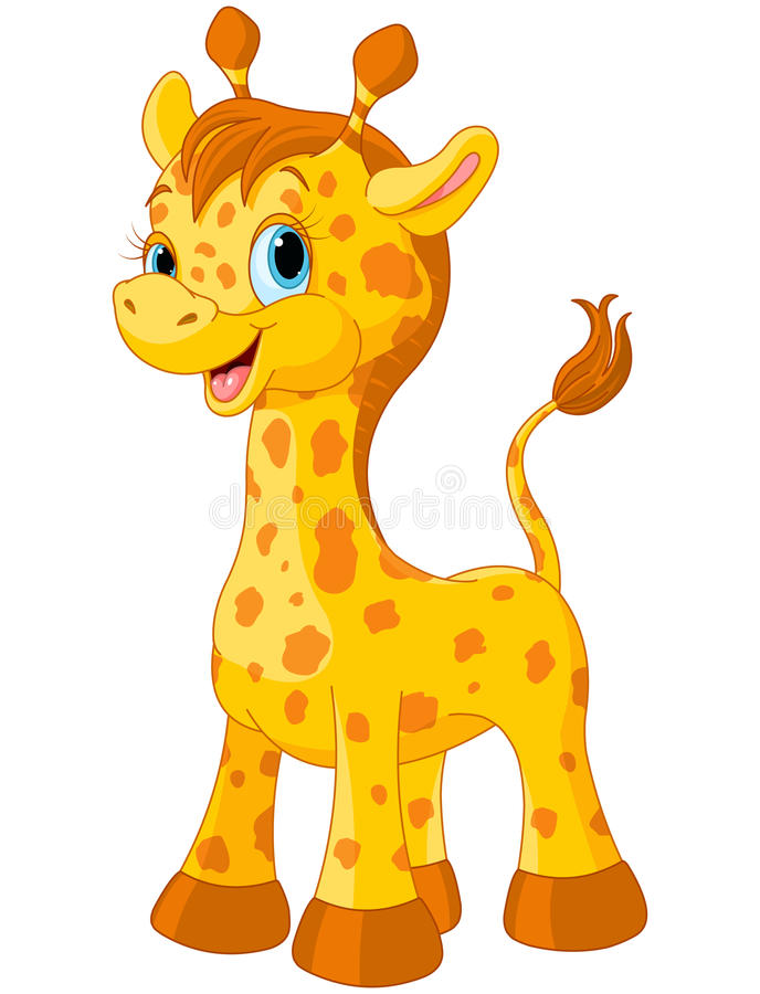 Cute giraffe. Illustration of little cute giraffe calf