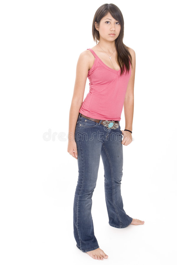 Download Cute Girl 2 stock photo. Image of arms, pose, feet, beauty - 409350