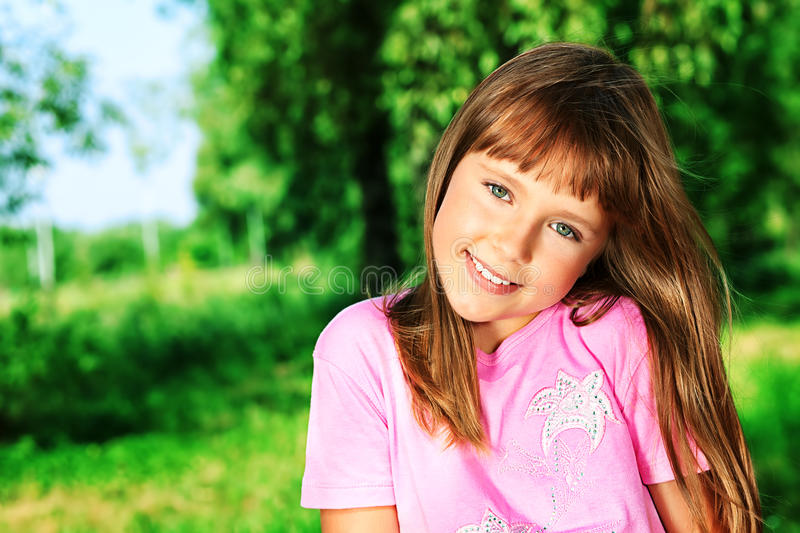 Cute girl royalty free stock photo