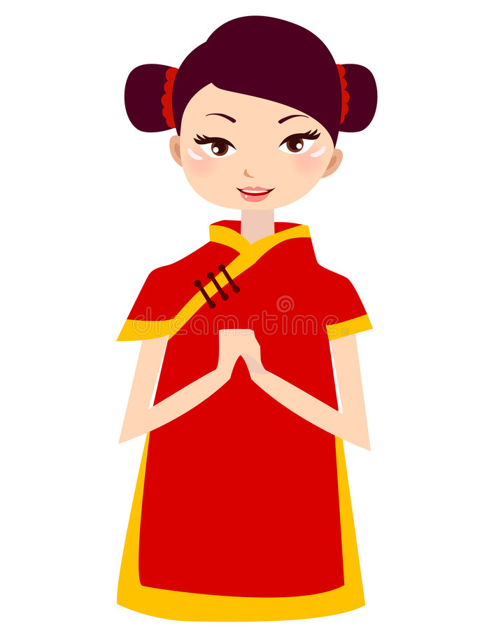 Download Cute girl stock vector. Image of cartoon, happy, background - 6971620