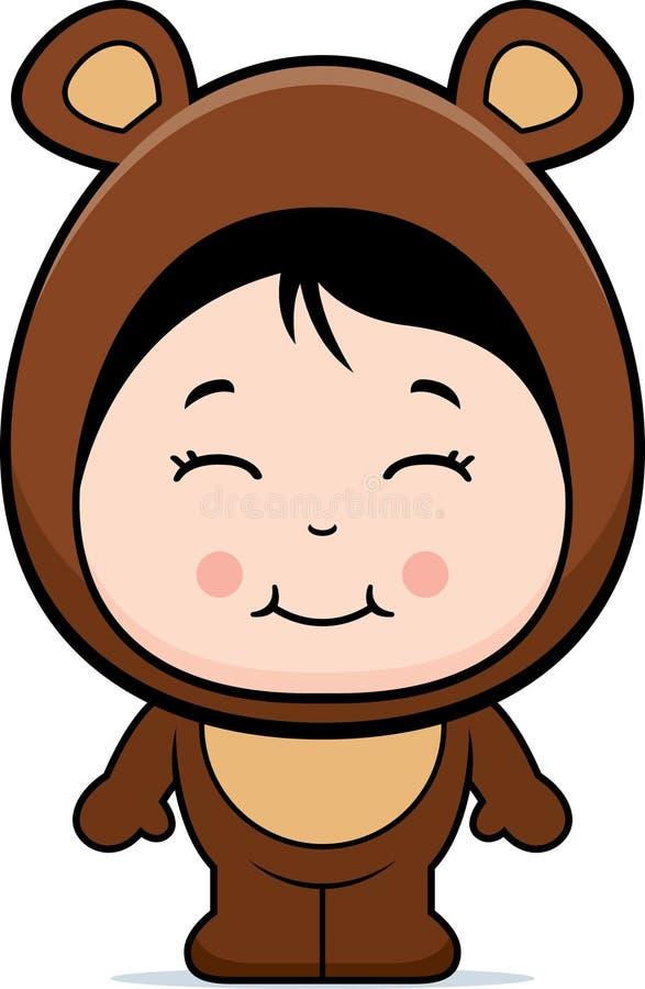 Download Cute Girl Bear stock vector. Image of cartoon, girl, illustration - 12003041