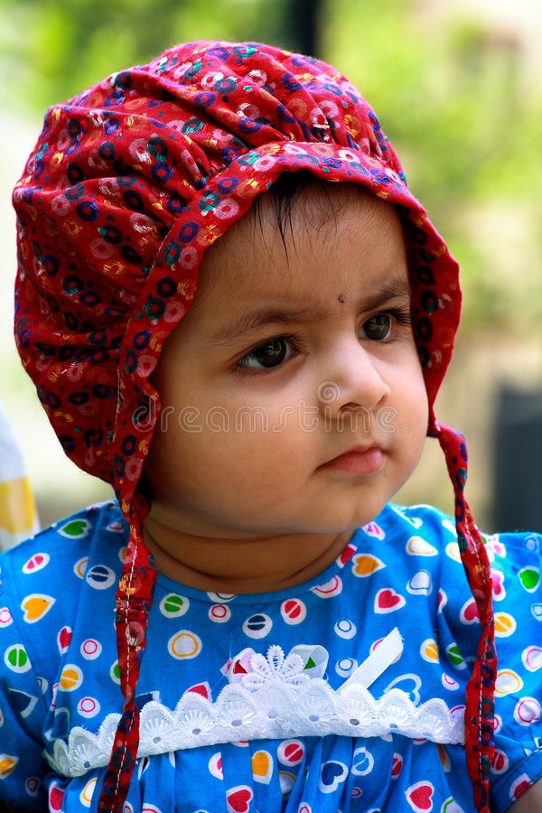 Download Cute girl in bonnet stock image. Image of inquisitive - 3536719