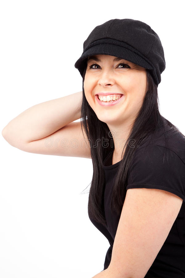 Download Cute Girl With A Casual Cap Stock Photo - Image: 22686270