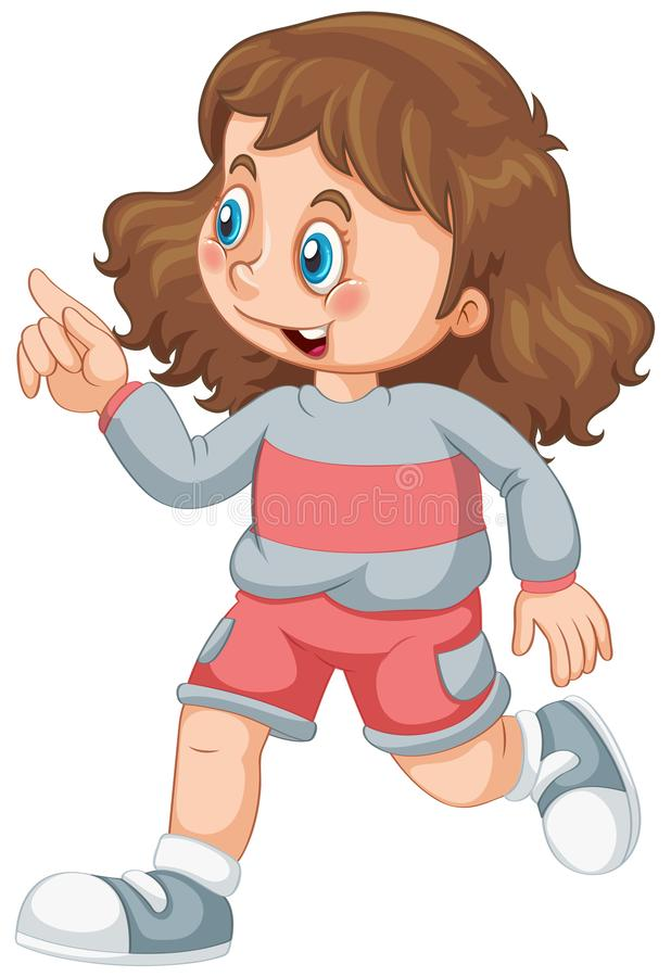 A cute girl character stock illustration