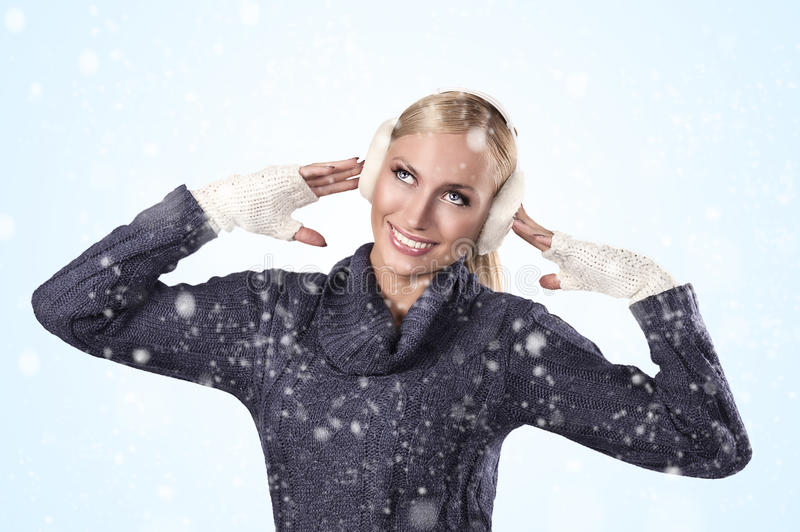 Download Cute Girl Dressed For A Winter Cold Day Stock Image - Image: 22062743