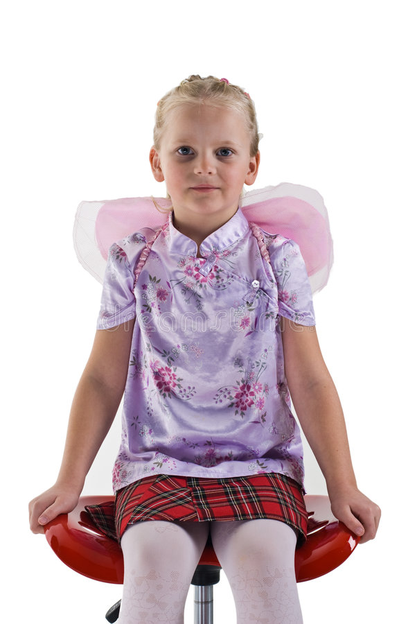 Cute Girl With Fairy Wings Stock Images