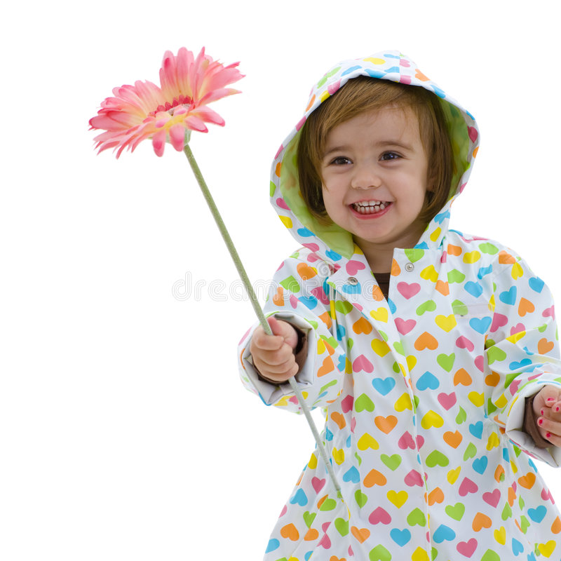 Cute girl with flower royalty free stock image