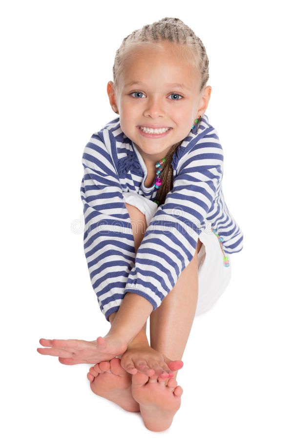 Cite 6 Year Girl: Cute Girl In The Form Of A Sailor Boy Stock Photo