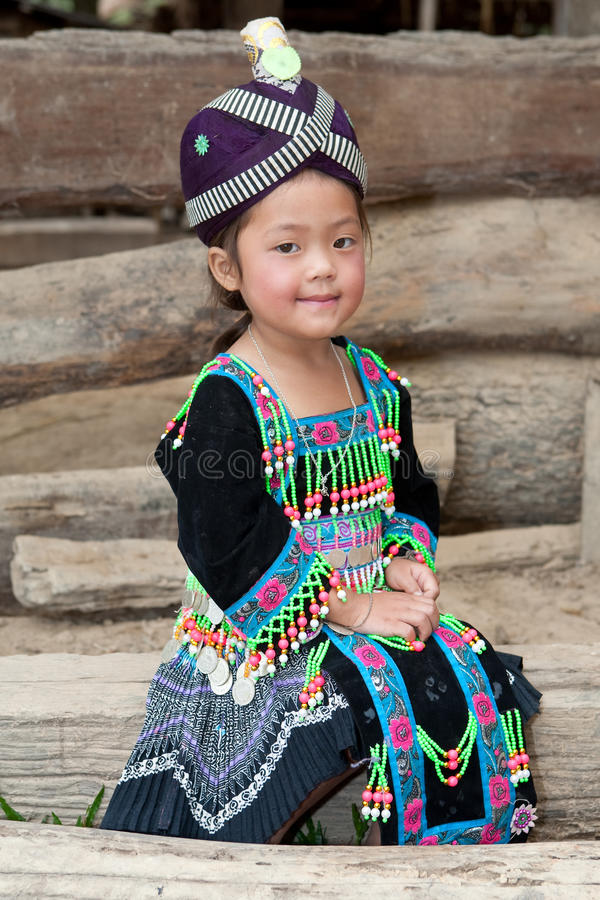 Free Cute Girl From Laos Hmong Stock Photo - 13197820
