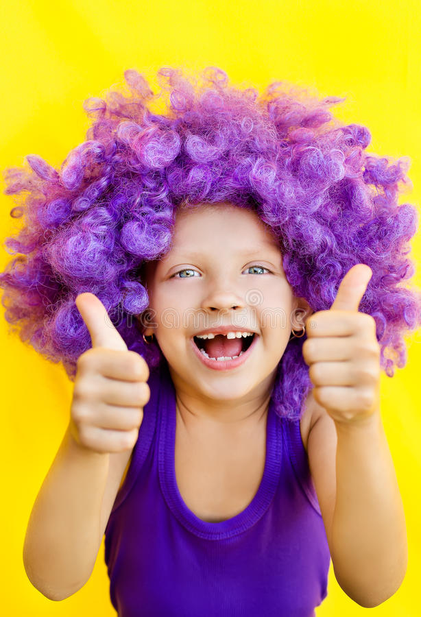 Download Cute Girl In Funny Wig Stock Photos - Image: 32819033
