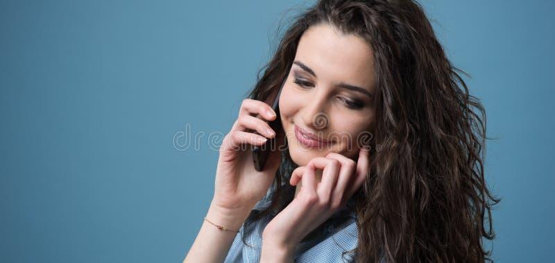 Cute teens on phone stock photo. Image of happy, call