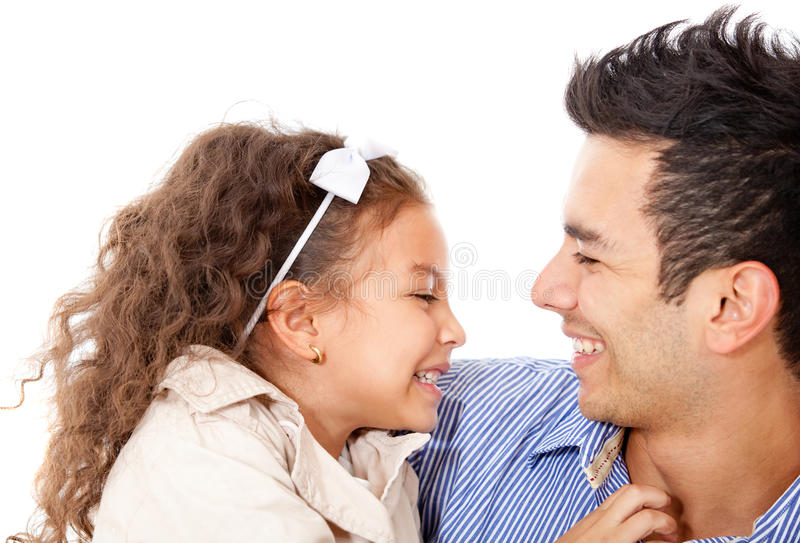 Cute girl with her dad