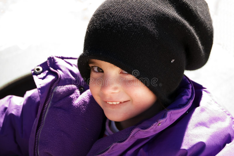 Cute girl outdoors royalty free stock image