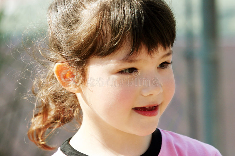 Download Cute girl outdoors stock photo. Image of portrait, future - 516532