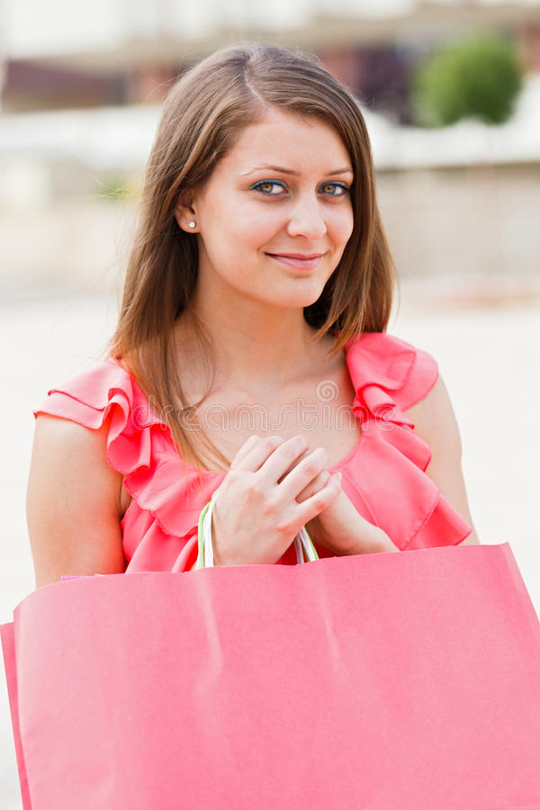 Download Cute Girl With Pink Bag Royalty Free Stock Photo - Image: 32955645